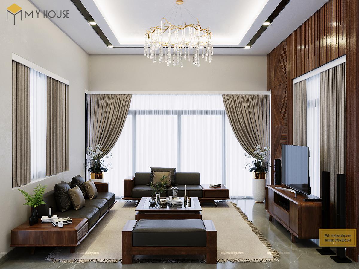Biệt thự nội thất gỗ óc chó FLC Hạ Long
