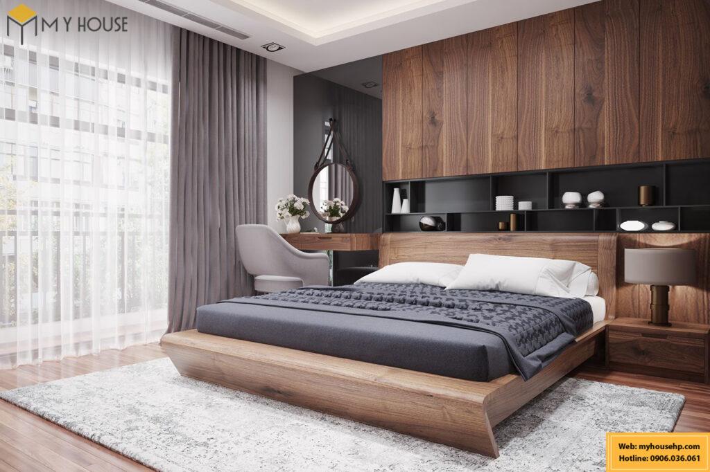 Giường gỗ óc chó tại Hải Phòng