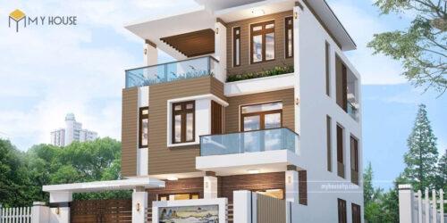 Mẫu nhà phố 3 tầng phong cách hiện đại
