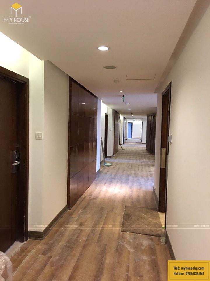 Thi công nội thất tại sảnh khách sạn Crowne Plaza