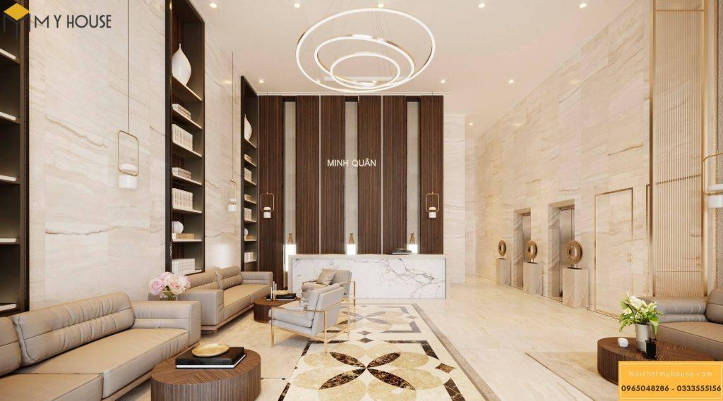 Sảnh khách sạn 3 sao hiện đại đẹp _ View 1