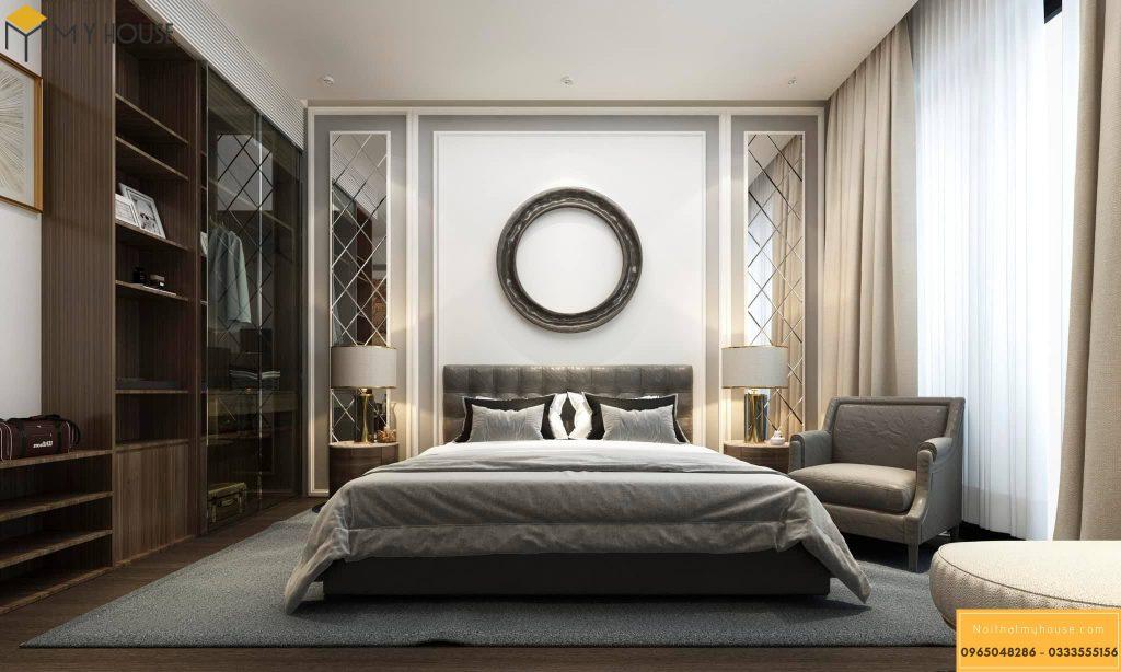 Phòng ngủ thiết kế đơn giản không kém phần sang trọng