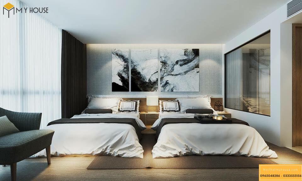Phòng ngủ khách sạn 5 sao hiện đại _ View 4