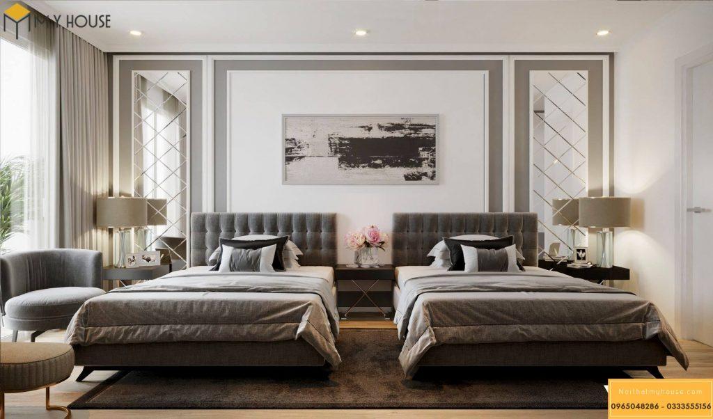 Phòng ngủ khách sạn 3 sao hiện đại đẹp _ View 1