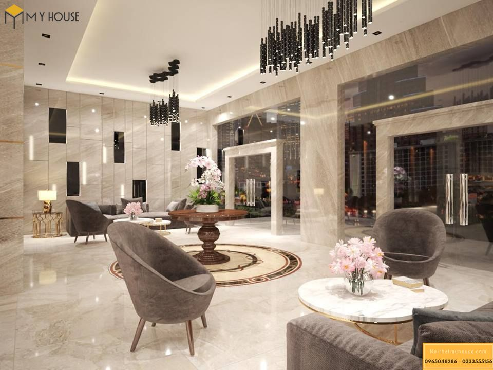 Sảnh khách sạn 4 sao hiện đại _ View 1