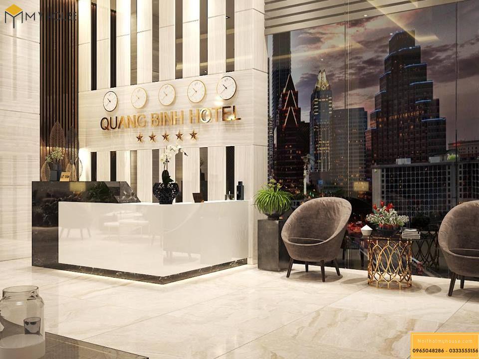 Sảnh khách sạn 5 sao hiện đại _ View 1
