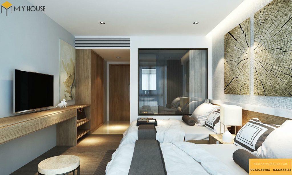 Phòng ngủ khách sạn 5 sao hiện đại _ View 3