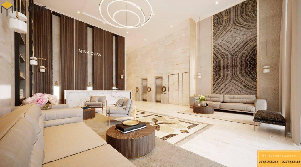 Sảnh khách sạn 3 sao hiện đại đẹp _ View 2