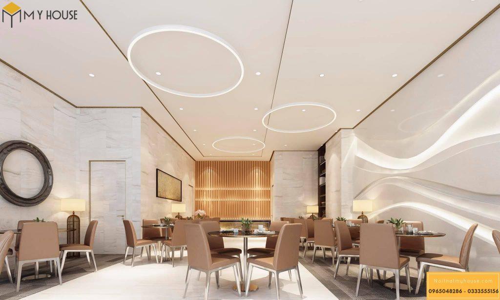 Không gian nhà hàng khách sạn hiện đại sang trọng