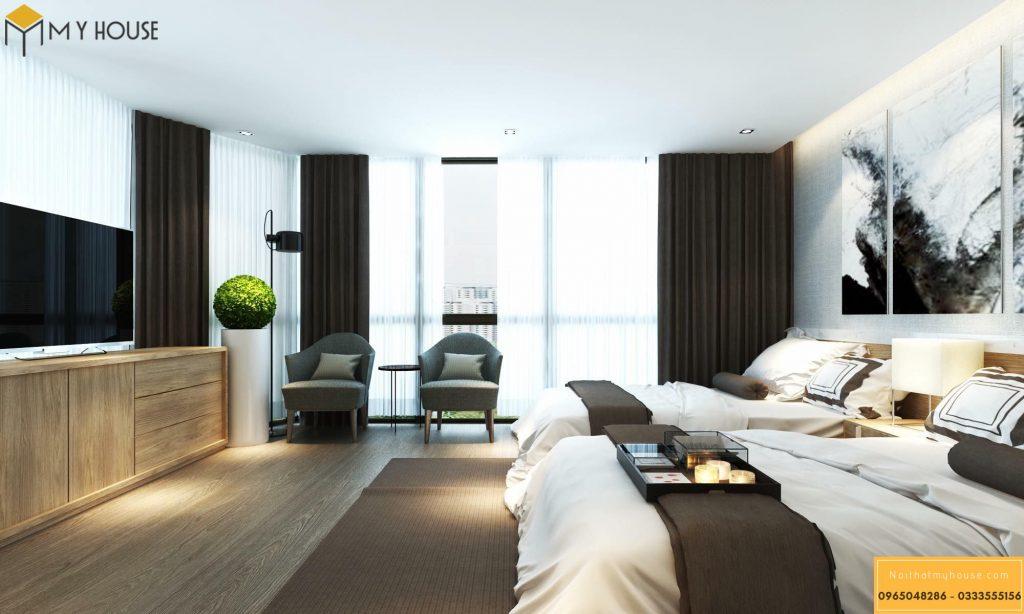 Phòng ngủ khách sạn 5 sao hiện đại _ View 2