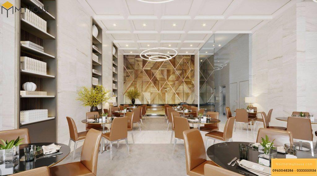 Không gian nhà hàng tại khách sạn 3 sao hiện đại _ View 2