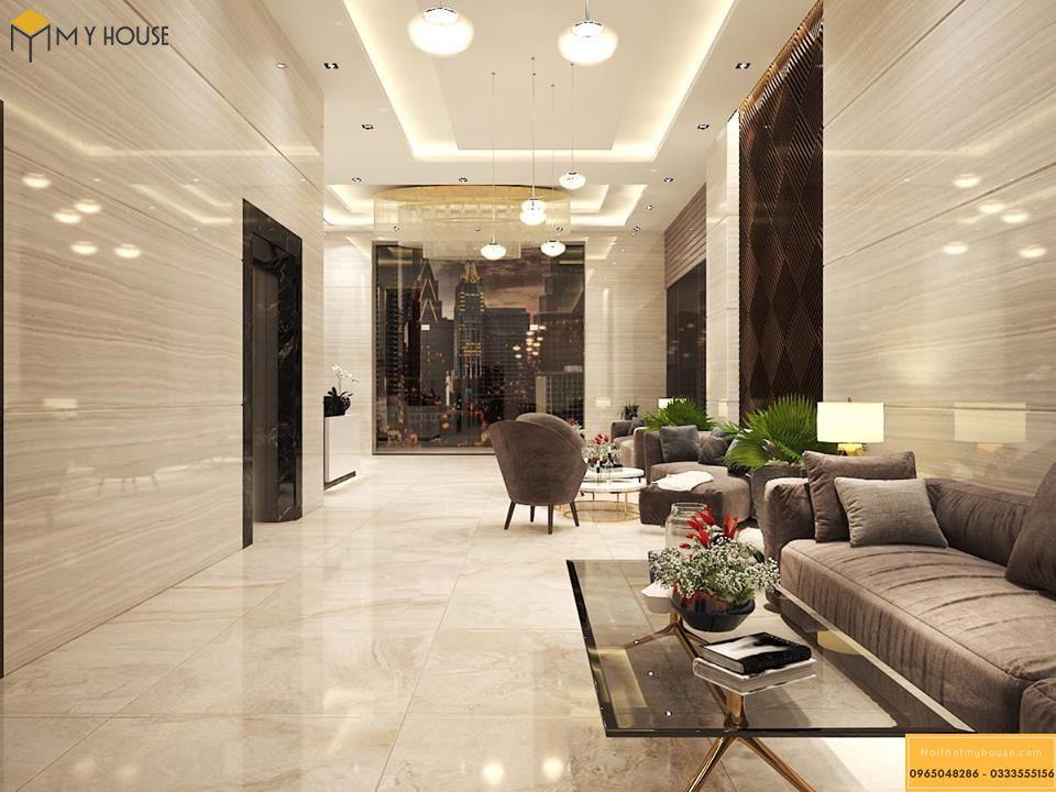 Sảnh khách sạn 5 sao hiện đại _ View 4