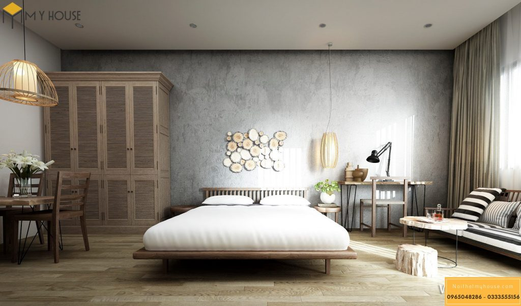Phòng ngủ khách sạn 4 sao hiện đại _ View 3