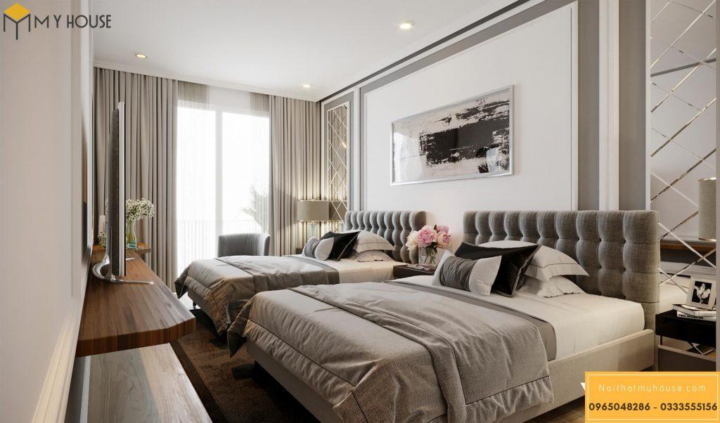Phòng ngủ khách sạn 3 sao hiện đại đẹp _ View 2