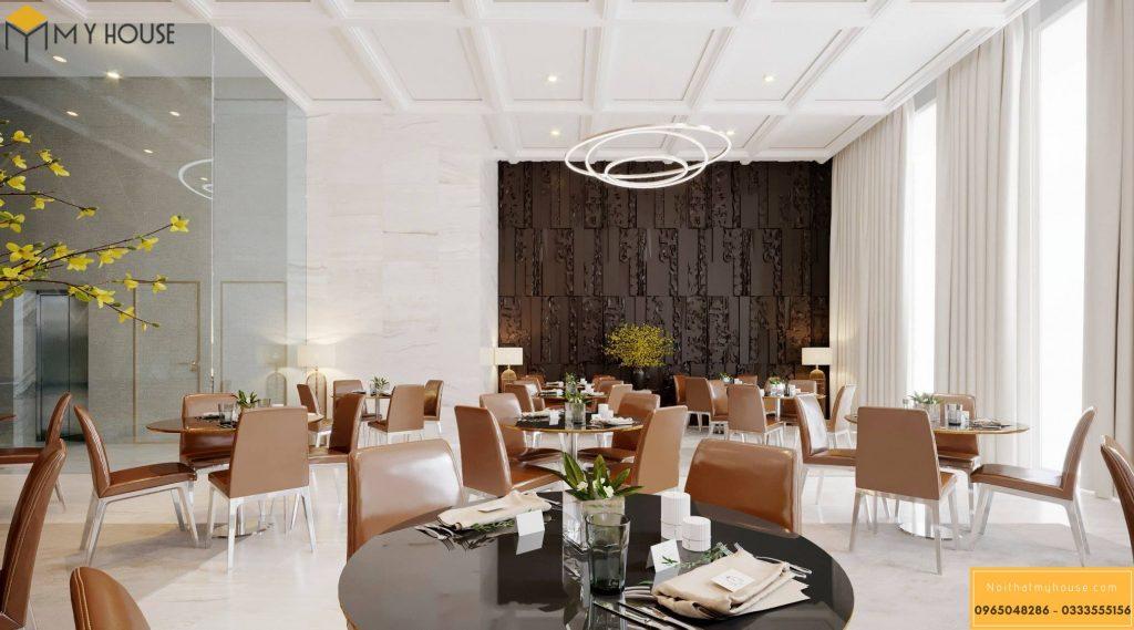 Không gian nhà hàng tại khách sạn 3 sao hiện đại _ View 1
