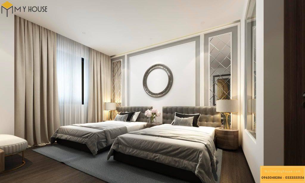 Phòng ngủ thiết kế ấn tượng tinh tế với nội thất bằng gỗ