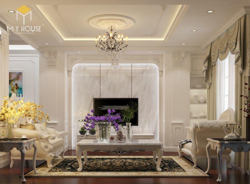 Mẫu thiết kế nội thất căn hộ 146m2 - View 2