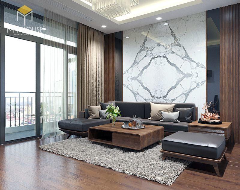 Mẫu thiết kế nội thất căn hộ 120m2 - View 1
