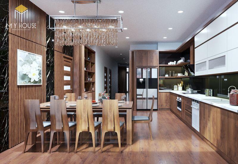 Mẫu thiết kế nội thất căn hộ 120m2 - View 2