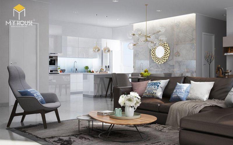 Mẫu thiết kế nội thất căn hộ 150m2 - View 1