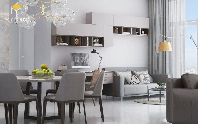 Mẫu thiết kế nội thất căn hộ 150m2 - View 2