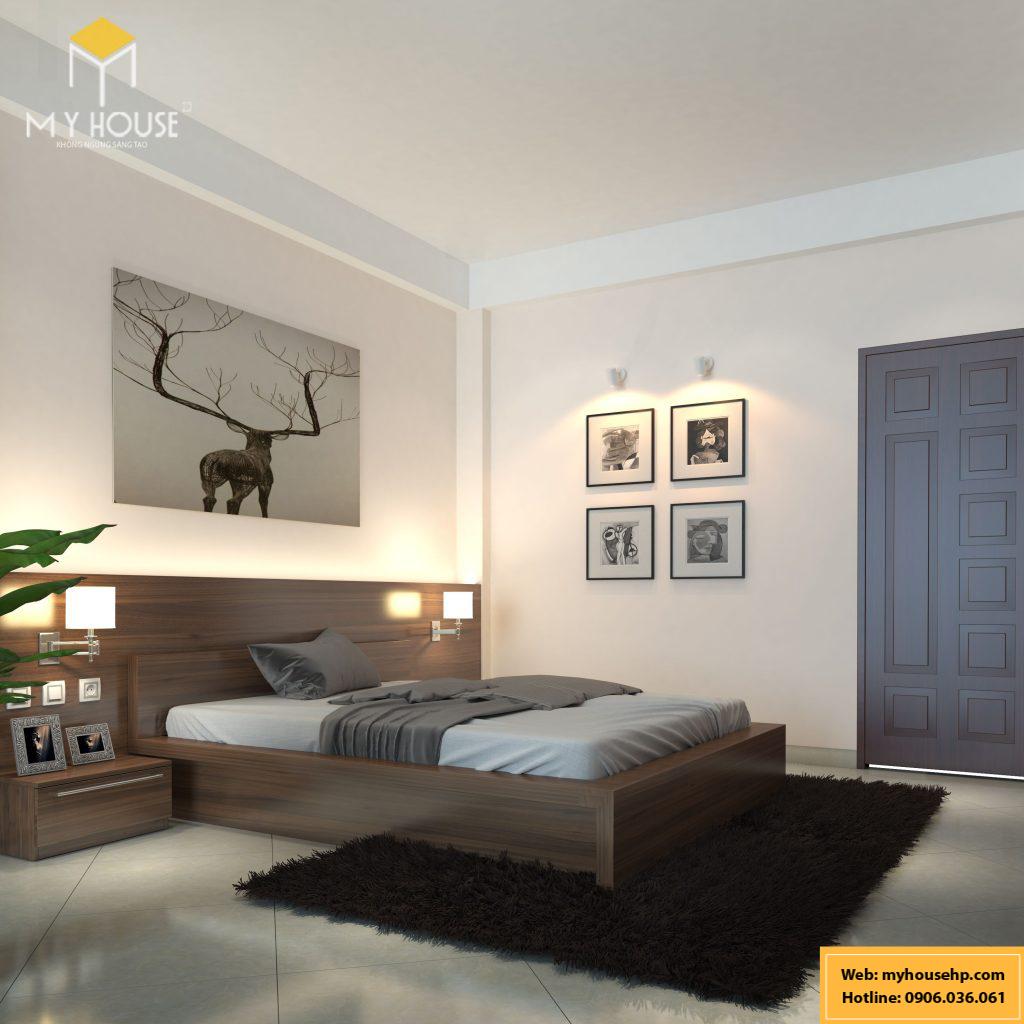 Thiết kế nội thất phòng ngủ con trai Ecorivers Hải Dương
