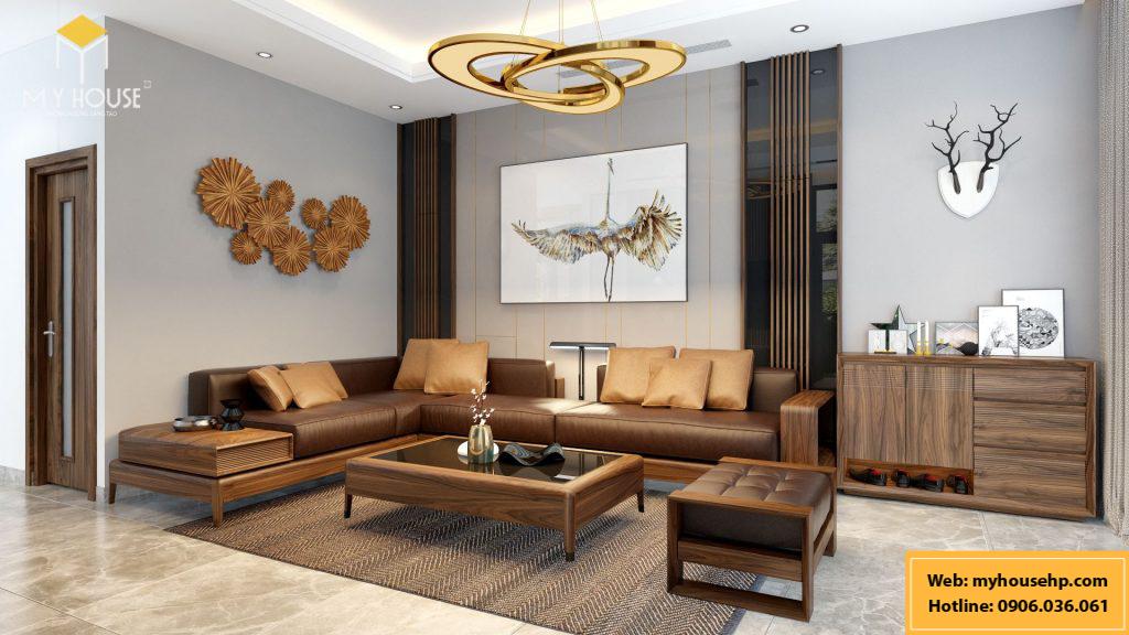 Thiết kế nội thất biệt thự Ecorivers Hải Dương