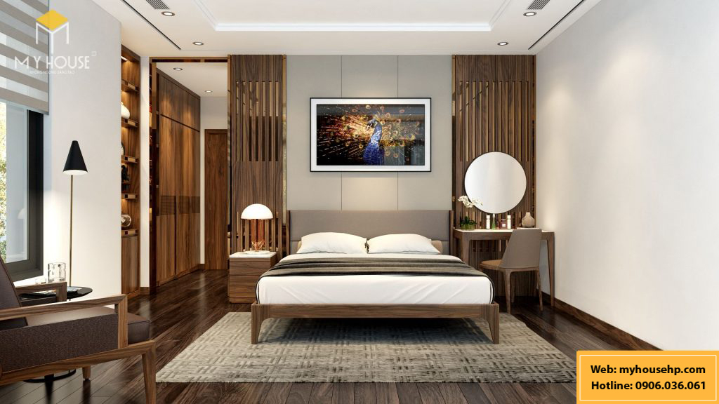Thiết kế nội thất phòng ngủ biệt thự Ecorivers Hải Dương
