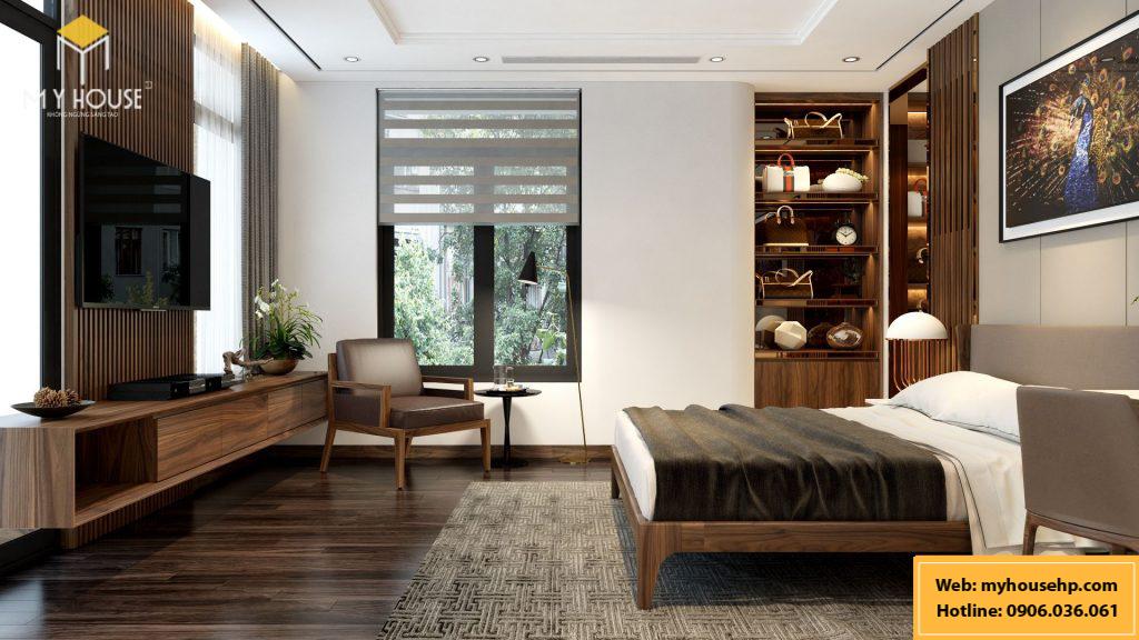 nội thất phòng ngủ biệt thự Ecorivers Hải Dương