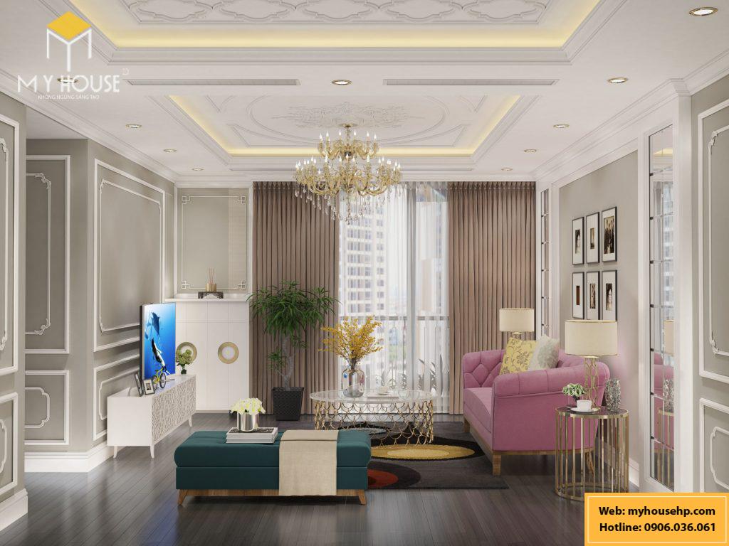 Thiết kế nội thất chung cư Ecorivers Hải Dương