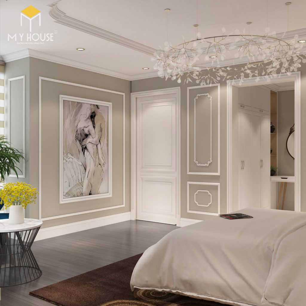 Thiết kế nội thất phòng ngủ chung cư Ecorivers Hải Dương