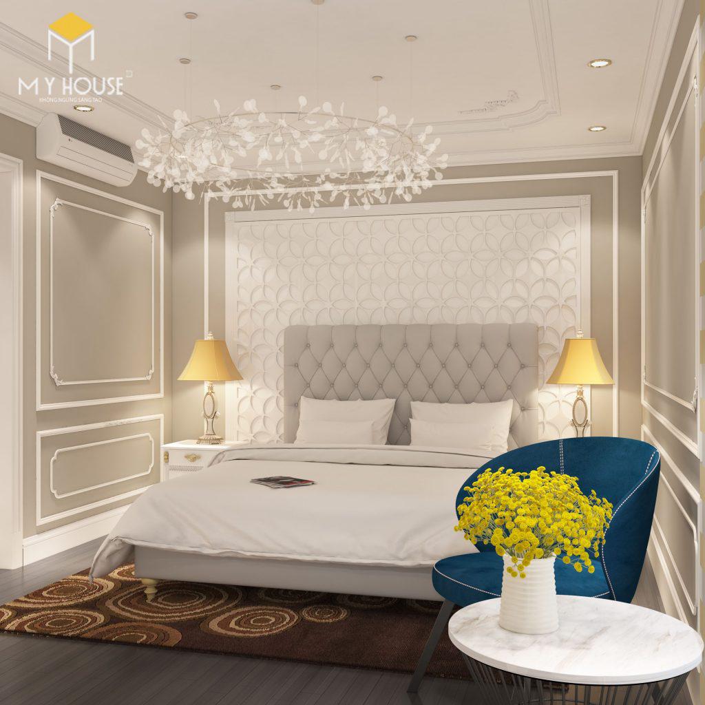 nội thất phòng ngủ chung cư Ecorivers Hải Dương