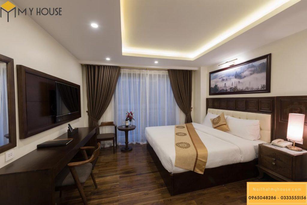 Phòng ngủ đơn thiết kế ấn tượng gam màu ấn cúng