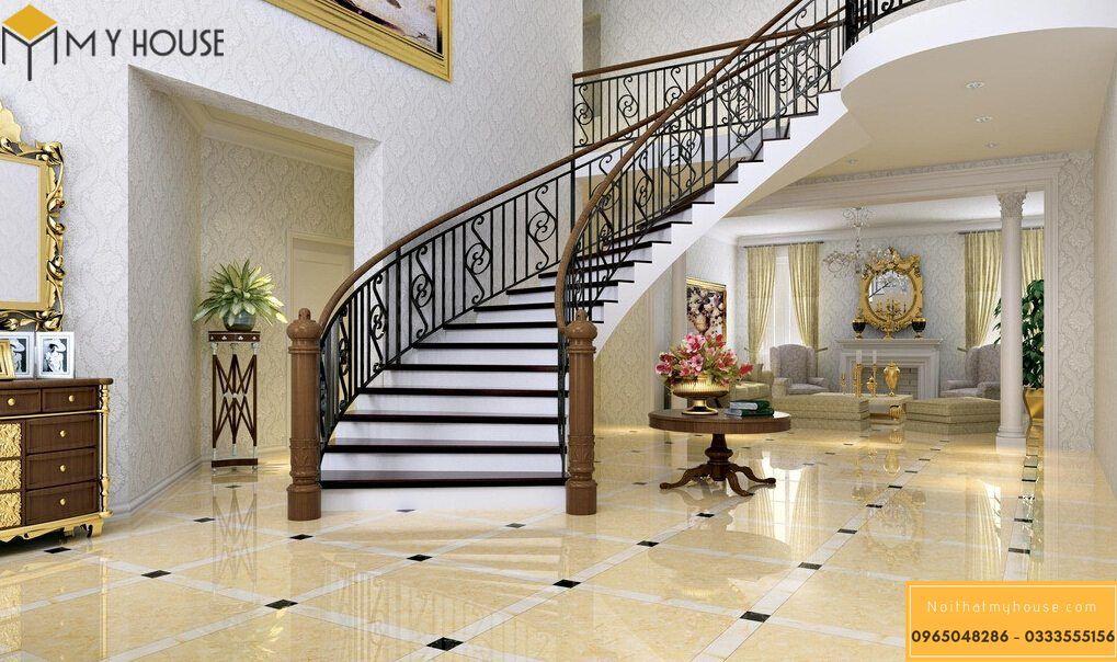 Cách bố trí nội thất trang trí tại cầu thang khách sạn 3 sao