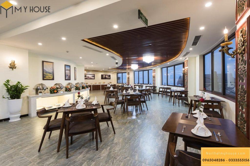 Nhà hàng khách sạn 3 sao thiết kế sang trọng