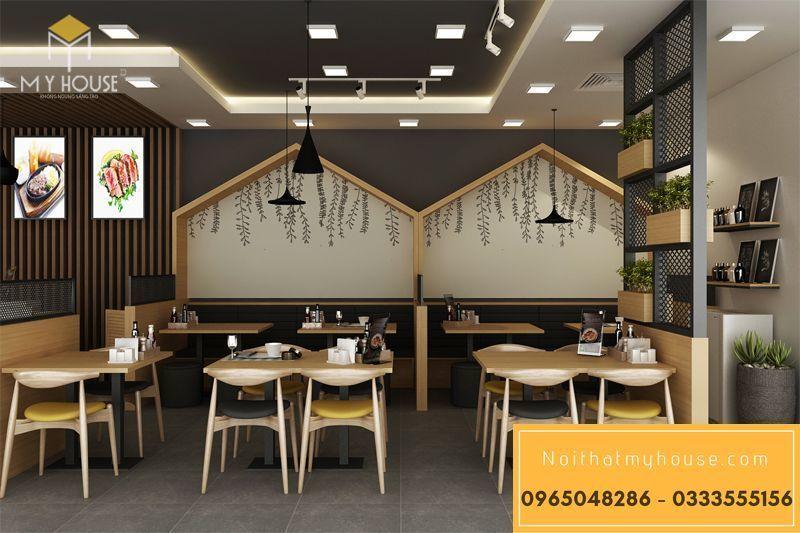 Bố trí nội thất nhà hàng ăn nhanh đơn giản đẹp - View 10