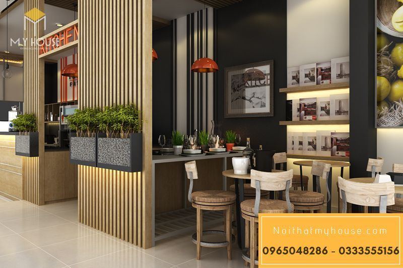 Bố trí nội thất nhà hàng ăn nhanh đơn giản đẹp - View 3