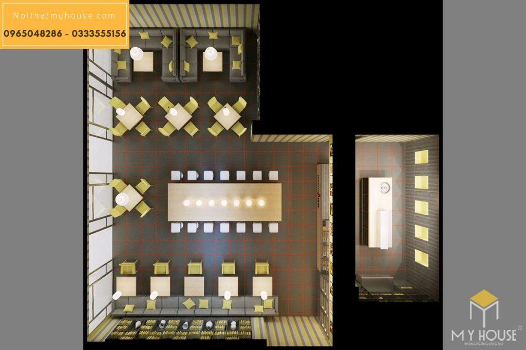Lưu ý khi thiết kế nội thất nhà hàng ăn nhanh