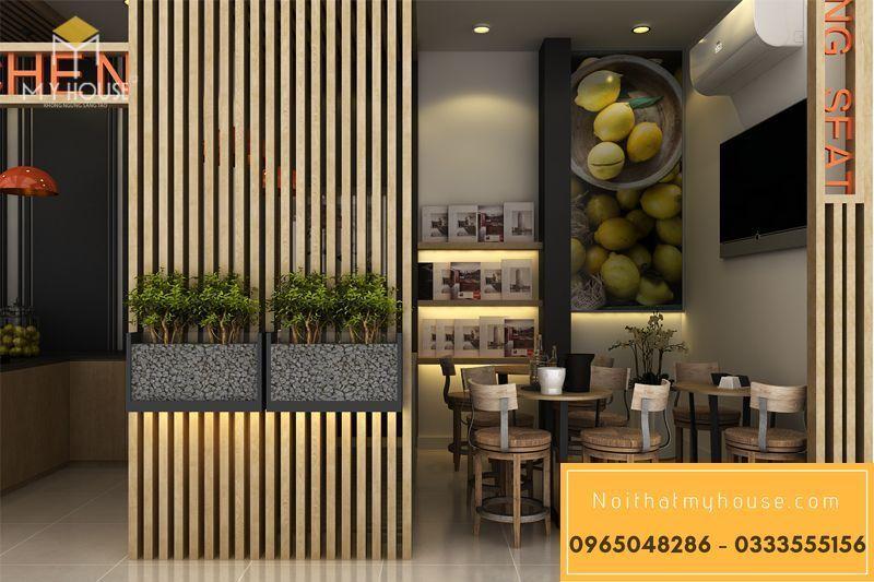 Bố trí nội thất nhà hàng ăn nhanh đơn giản đẹp - View 5