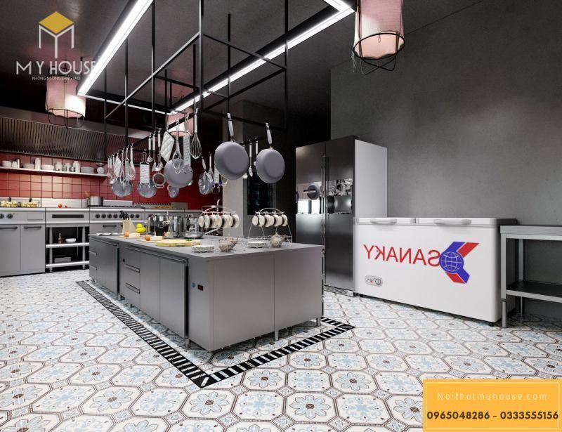 Phòng bếp chế biến đồ ăn nhà hàng Nhật - View 2