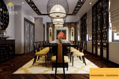 Nội thất trong phong cách thiết kế nhà hàng Nhật