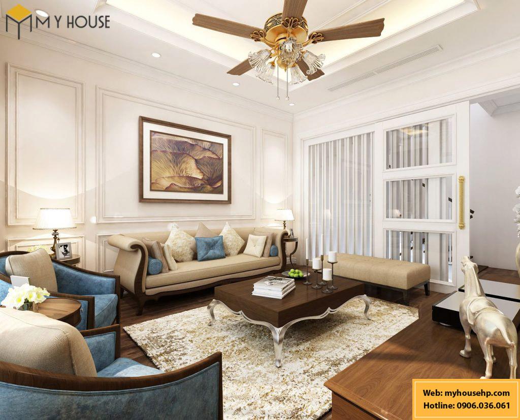 Thiết kế nội thất nhà phố 5 tầng tại Hải Phòng