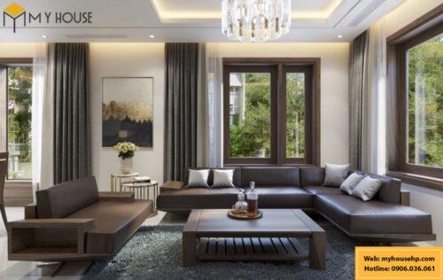 Thiết kế nội thất nhà phố cao cấp tai Hải Phòng