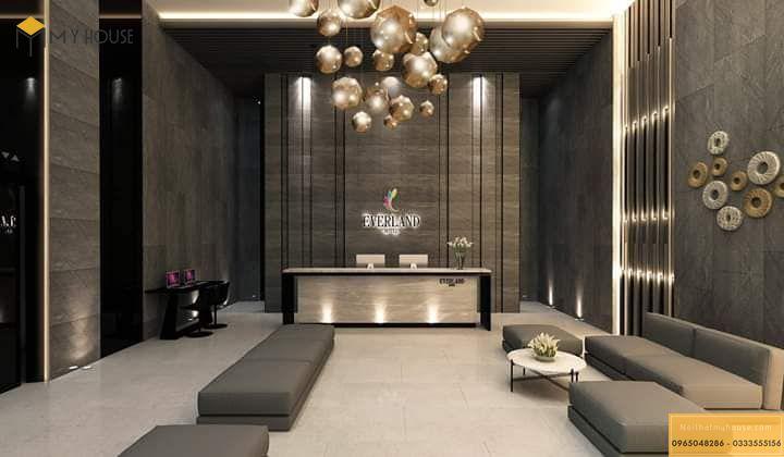 Thiết kế nội thất quầy tiếp đón khách sạn