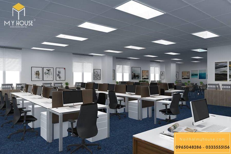 Phân chia không gian văn phòng 200m2 hợp lý