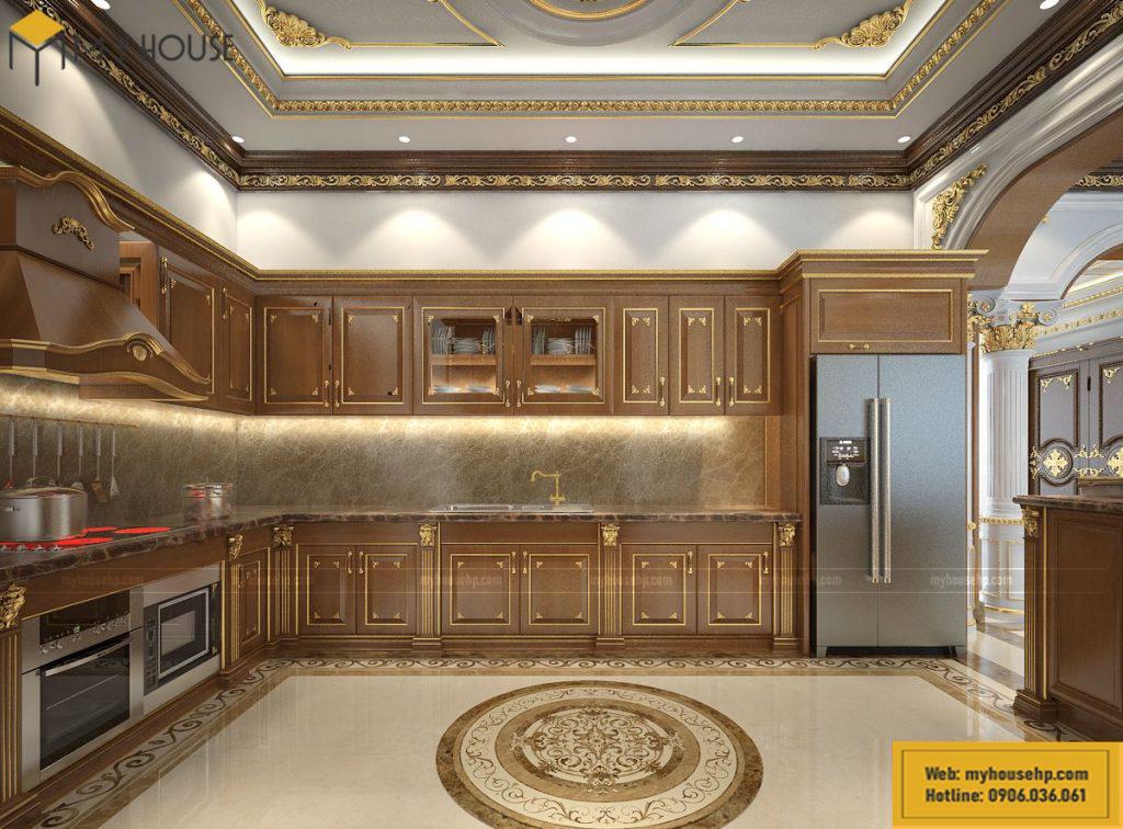 Tủ bếp biệt thự đơn lập